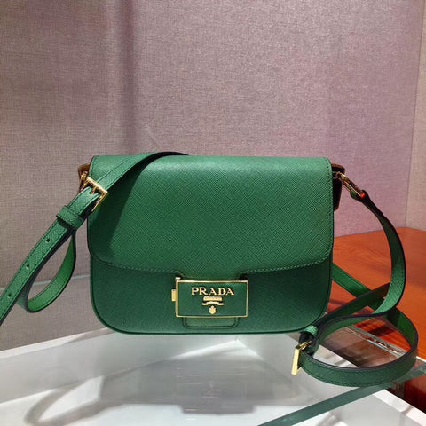 PRADA Saffiano Leather Emblème Bag