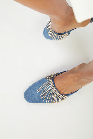 SAANAH | Slippers Odette Denim Deluxe
