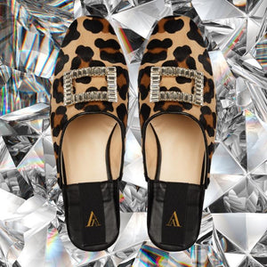 SAANAH | Slippers Odette Deluxe Pony Leopard