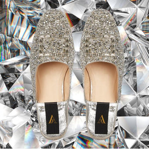 SAANAH | Slippers Odette Glitter Deluxe Silver