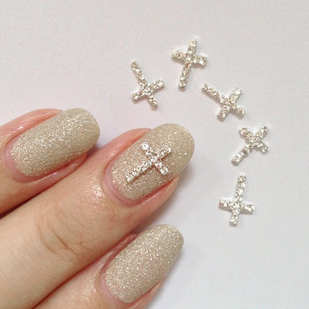 nail decoration charm cross