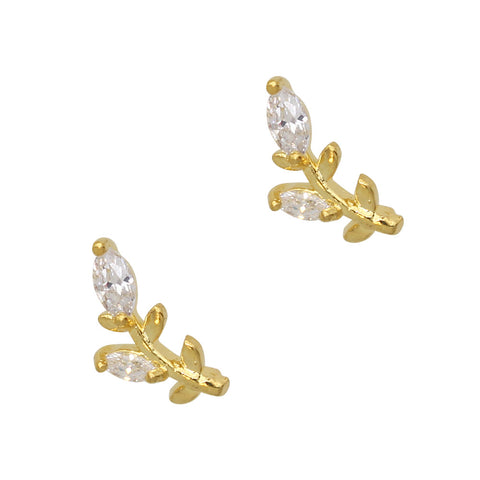Daily Charme Nail Art Charms Dainty Spring Buds / Zircon Charm / Gold