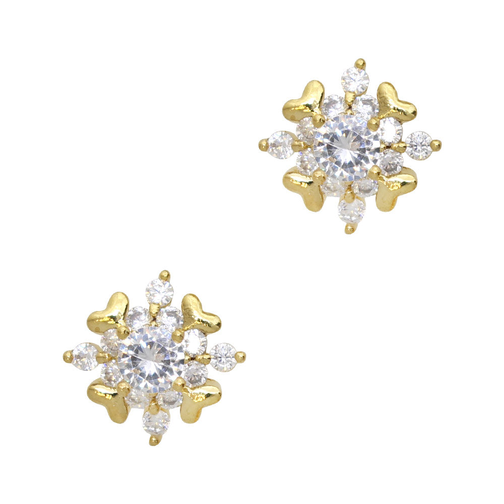 Fancy Snowflake / Zircon Charm / Gold