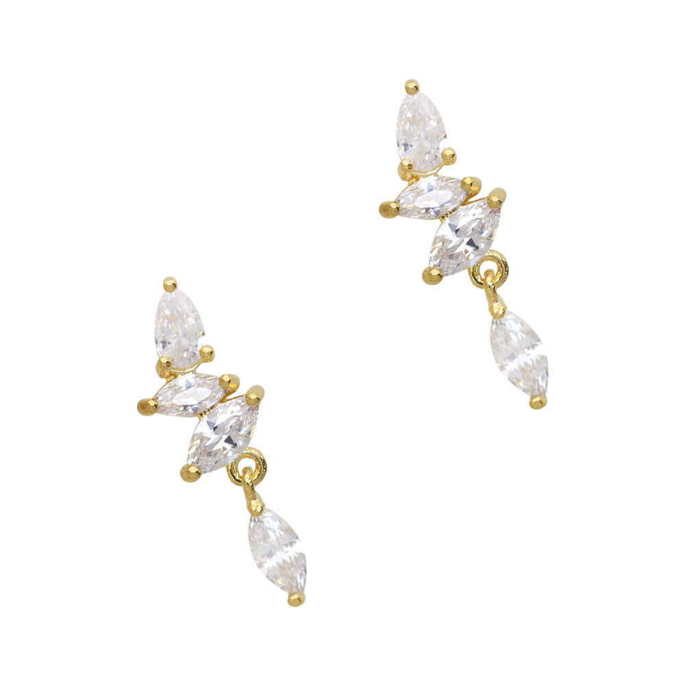 Daily Charme Nail Art Charms Crystal Chain Dangle/ Zircon Charm / Gold