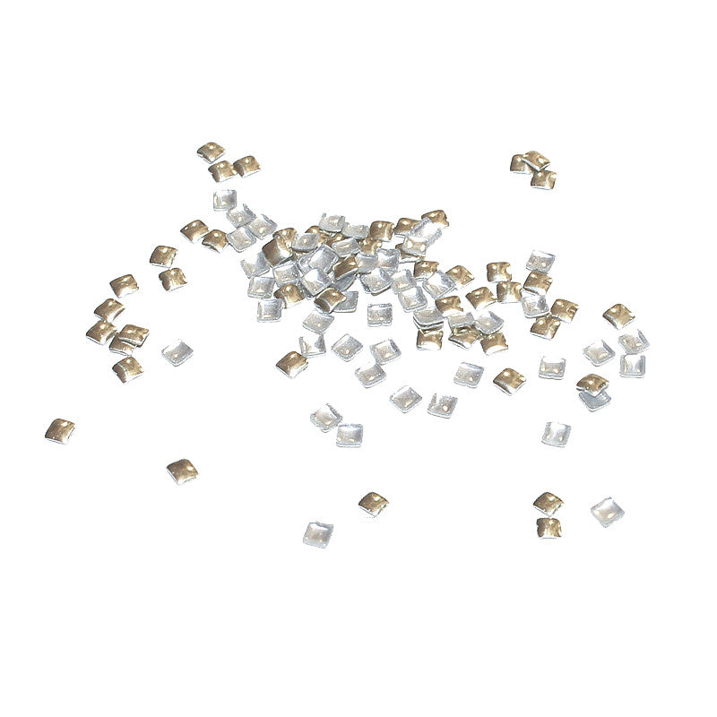 Square 2mm Stud / Champagne Gold