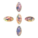 Glass Gem / Fire Opal Marquise Stones Nail Art Supplies