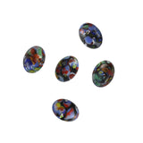 Mosaic Glass Cabochon / Oval / Black