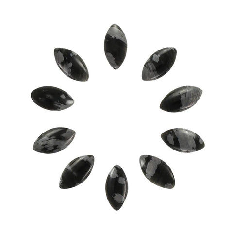 Marquise Flatback Gemstones / Snowflake Obsidian Nail Art Supplies