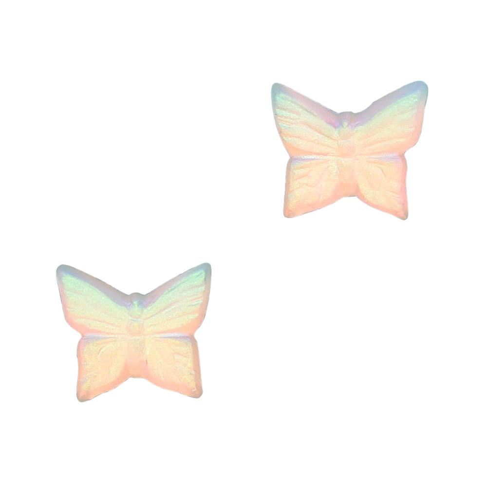 Glass Gem / Butterfly Flatback / Matte Crystal AB for Nail Art