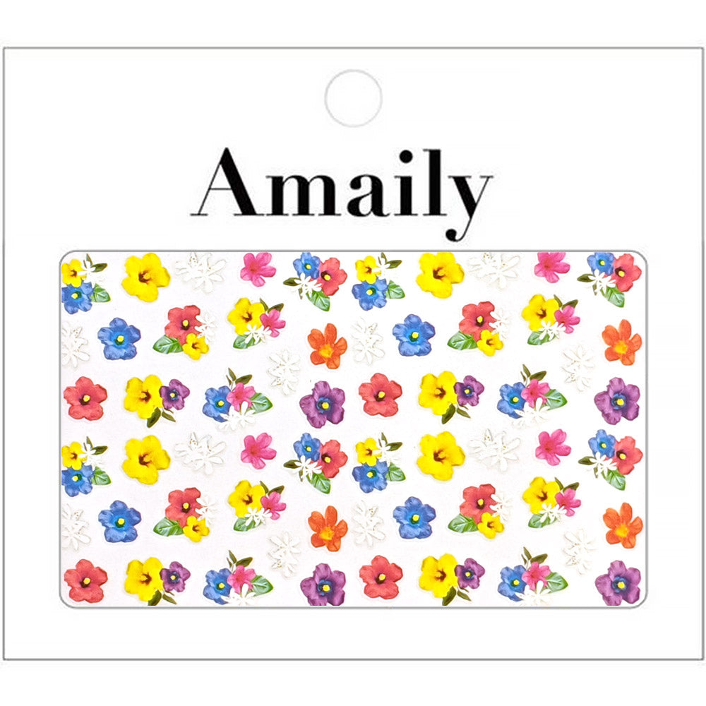 Amaily Japanese Nail Art Sticker / Summer Flowers