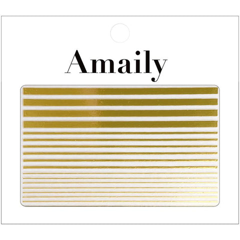 Amaily Japanese Nail Art Sticker / Fine Lines / Gold Cuff