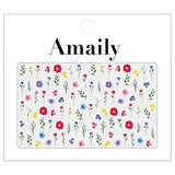 Amaily Japanese Nail Art Sticker / Flower Garden / Bright
