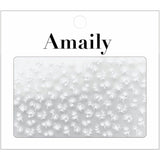 Amaily Japanese Nail Art Sticker / Petite Flower / White