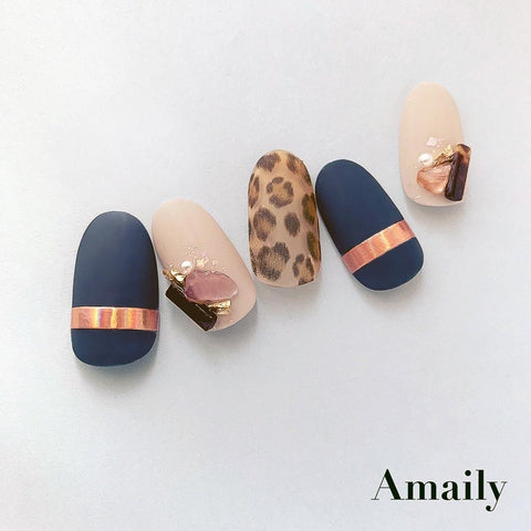 Amaily Japanese Nail Art Sticker / Lines / Rose Gold Holographic