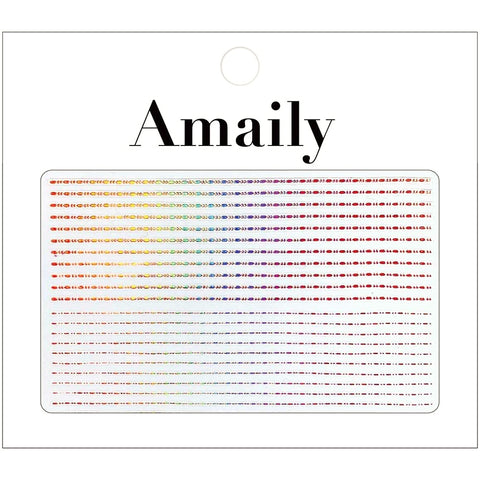 Amaily Japanese Nail Art Sticker / Decorative Lines / Rose Gold Holo