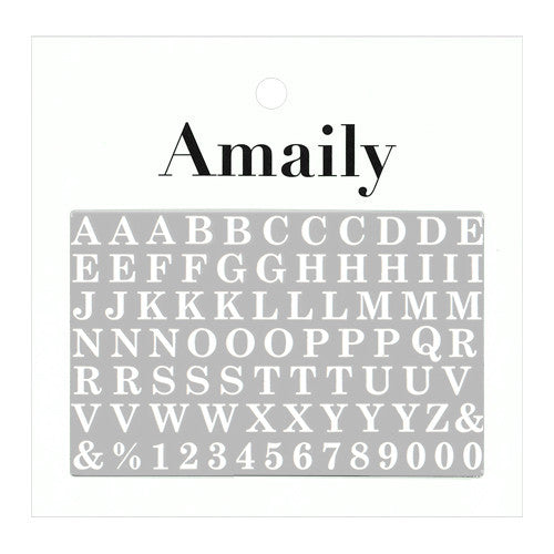 Daily Charme Nail Art Supply Amaily Japanese Nail Art Sticker / Large Alphabets / White