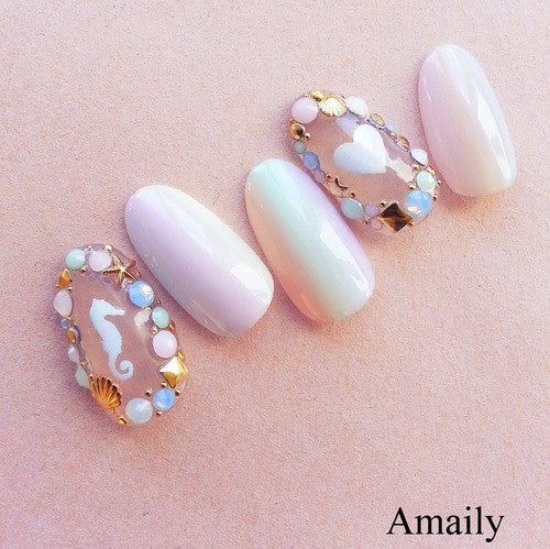 Amaily Japanese Nail Art Sticker / Sea Aurora Mermaid Nails ... - Amaily Japanese Nail Art Sticker / Sea Aurora – Daily Charme