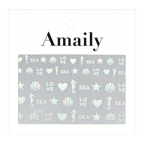 Amaily Japanese Nail Art Sticker / Sea Aurora Mermaid Nails