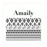 Daily Charme Nail Art Supply Amaily Japanese Nail Art Sticker / Native Patterns / Black