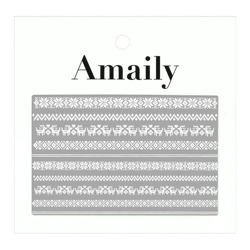 Daily Charme Nail Art Supply Amaily Japanese Nail Art Sticker / Nordic Patterns / White