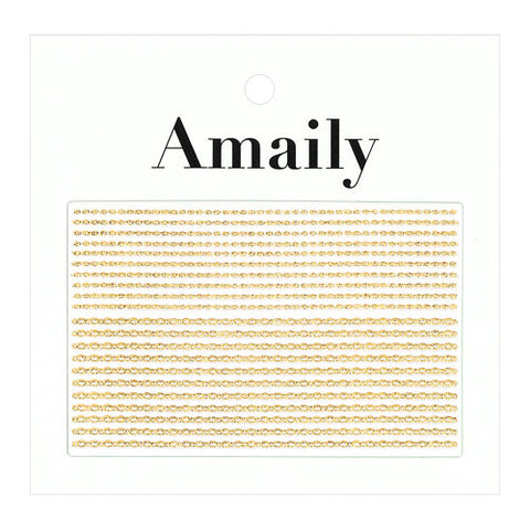 Daily Charme Nail Art Supply Amaily Japanese Nail Art Sticker / Chains / Gold