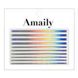 Daily Charme Nail Art Supply Amaily Japanese Nail Art Sticker / Holographic Lines / Silver