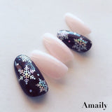 Daily Charme Nail Art Supply Amaily Japanese Nail Art Sticker / Holographic Snowflake