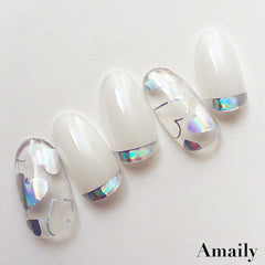 Daily Charme Nail Art Supply Amaily Japanese Nail Art Sticker / Holographic Hearts & Stars