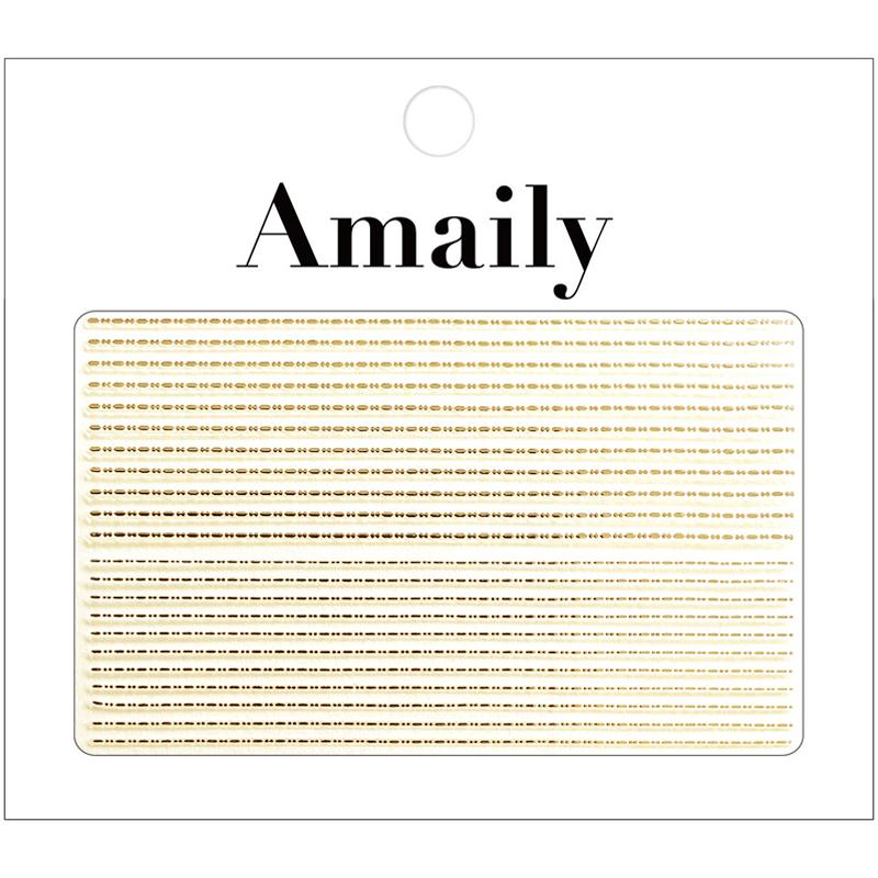 Amaily Japanese Nail Art Sticker Decorative Lines Gold