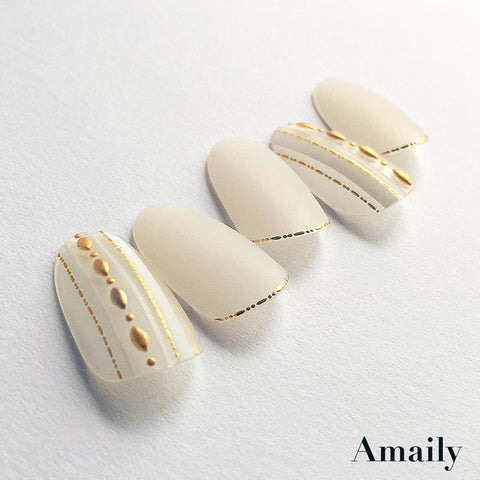 Amaily Japanese Nail Art Sticker / Decorative Lines / Gold