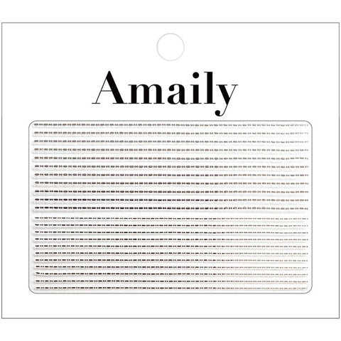 Amaily Japanese Nail Art Sticker / Decorative Lines / Silver