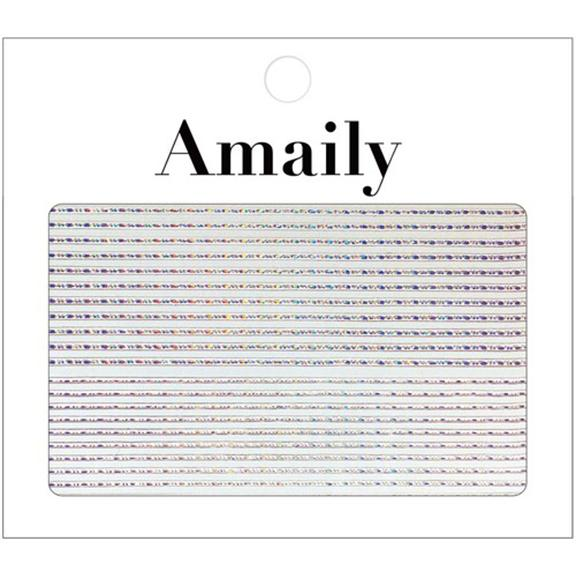 amaily japanese nail art sticker decorative lines holographic