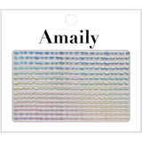 Daily Charme Nail Art Supply Amaily Japanese Nail Art Sticker / Holographic Wavy Lines