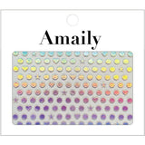 Daily Charme Nail Art Supply Amaily Japanese Nail Art Sticker / Holographic Dot Pattern