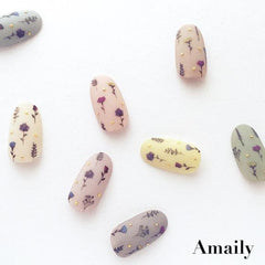 Daily Charme Nail Art Supply Amaily Japanese Nail Art Sticker / Dry Flowers