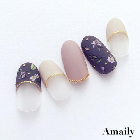 Amaily Japanese Nail Art Sticker / Botanicals