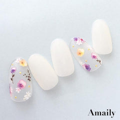 Daily Charme Nail Art Supply Amaily Japanese Nail Art Sticker / Pink Flowers