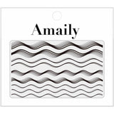 Amaily Japanese Nail Art Sticker / Waves / Black Lines