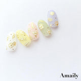 Daily Charme Nail Art Supply Amaily Japanese Nail Art Sticker / Flower Sketch / Gold