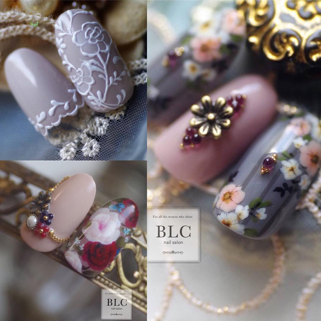 Daily Charme Nail Art Supply Japanese Nail Art Decoration BLC for Corde Antique Flower / 5mm