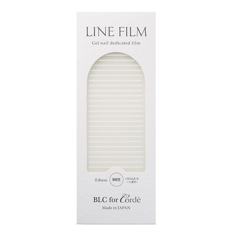 BLC for CORDE / Line Film / Opaque White / 0.8mm Japanese Nail Art Decoration Daily Charme Nail Supply