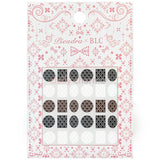 Daily Charme Japanese Nail Art Supply PIEADRA X BLC Japanese Nail Art Sticker / Large Brooch Damask