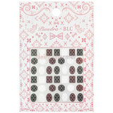 Daily Charme Japanese Nail Art Supply PIEADRA X BLC Japanese Nail Art Sticker / Small Brooch Damask