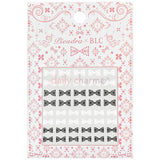 Daily Charme Japanese Nail Art Supply PIEADRA X BLC Japanese Nail Art Sticker / Ribbon Damask