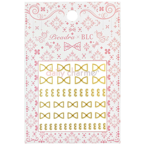 Daily Charme Japanese Nail Art Supply PIEADRA X BLC Japanese Nail Art Sticker / Ribbon