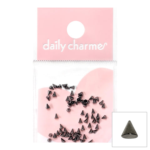 Daily Charme Nail Art Supply Small Gunmetal Spike Studs for Punk Nail Art