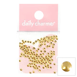 Nail Art Decoration Mini Round Studs Gold Metallic Dot Circle 2mm