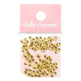Nail Art Decoration Mini Round Studs Gold Metallic Dot Circle 3mm