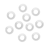Swirl Round Frames 5MM Studs / Silver Nail Art Decor