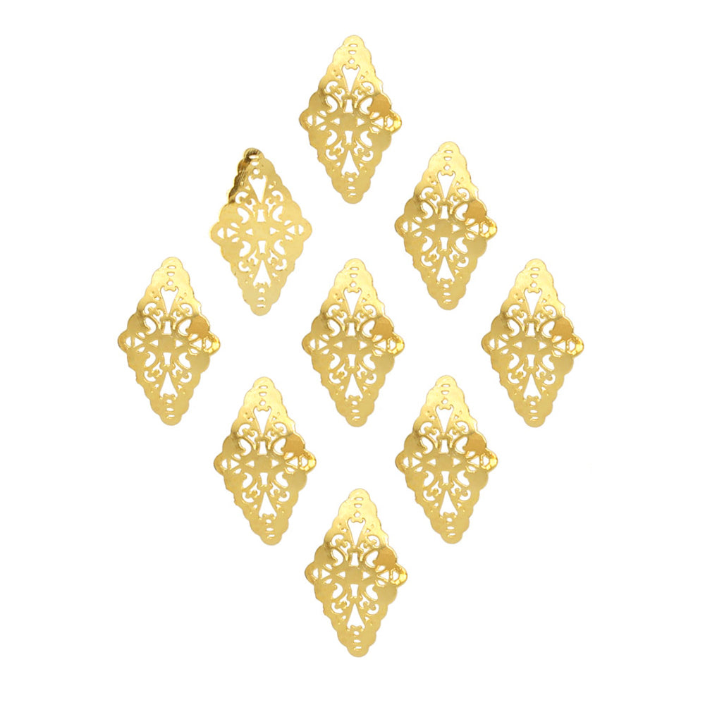 Lace Diamond Motif Stud / Gold for Nail Art